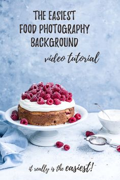 The easiest food photography background tutorial. Video tutorial. Backdrop. Food photography & food styling.