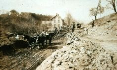 Early road work in Raven Rock, NJ What It Takes, Raven, 19th Century, Rock, History, Illustration, Outdoor, Outdoors, Historia