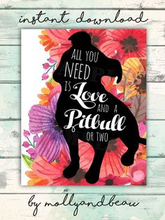 Pitbull Pitbull Art All You Need is Love and A by MollyandBeau Dog Mom Gifts, Gifts For Mom, American Pitbull, Dog Rooms, Pit Bull Love, Puppy Breeds, Kawaii, Dog Quotes, All You Need Is Love