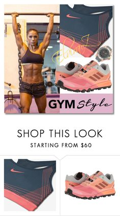 """GYM STYLE"" by elza76 ❤ liked on Polyvore featuring NIKE, adidas and KYBOE!"