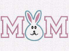 Retrouvez cet article dans ma boutique Etsy https://www.etsy.com/fr/listing/502561900/mom-rabbit-applique-machine-embroidery