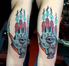 Hand of Glory tattoo by Mattia Sterzi @ http://fb.me/donttellmama.tattoostudio