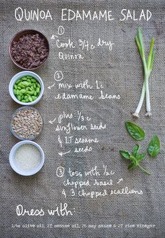 I made this Quinoa Edamame Salad with sesame dressing for our BBQ last weekend and it turned out to be a winner! We had leftovers that were great for lunches all week. Packed with flavor and protein, this is a filling salad I'll be making often. By Erin Gleeson for The Forest Feast