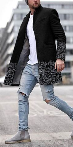 Discover clothes fit for Autumn and cold weather seasons with the top best fall outfits for men. Explore cool stylish picks and fashionable ideas. Shop now! #coat #jackets #men