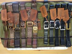 New handmade leather belts SS 2016 collection .