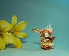 Aleah Klay Studio: Miniature Rabbit bunny in fairy dress Scheduled for Ebay