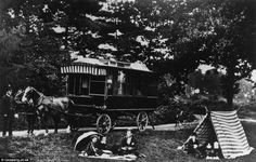 World's first  caravan: Dr William Stables commissioned the 1885 'Wanderer' - which was p...