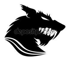Vector sign. Werewolf. - Stock ilustrace: 57528293