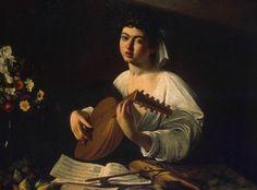Caravaggio, The Lute Player, c.1600, Oil on canvas, 94 cm × 119 cm (37 in × 47 in), Hermitage Museum, Saint Petersburg