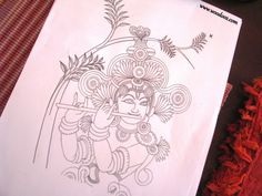 When Mural Art Meets Decoupage - Kerala Mural Painting Sketches Kerala Mural Painting, Buddha Painting, Krishna Painting, Krishna Art, Indian Traditional Paintings, Indian Contemporary Art, Traditional Art, Kalamkari Painting, Tanjore Painting