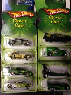 2007 HOT WHEELS CLOVER CARS COMPLETE SET OF 8