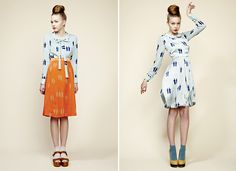 Charlotte Taylor SS 2012   Retro silhouettes, great colors and print