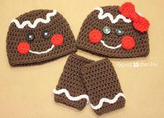 "Check out Repeat Crafter Me: Gingerbread Man Crochet Hat Pattern and tutorial! Its the cutest! For my crochet ladies, Harris Harris Mattson Patchett Bowe-Hernandez Bowe-Hernandez Keween Periatt"" data-componentType=""MODAL_PIN Bonnet Crochet, Crochet Baby Hats, Crochet Beanie, Cute Crochet, Crochet For Kids, Crochet Crafts, Crochet Projects, Knit Crochet, Ravelry Crochet"