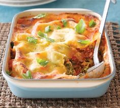 Chicken and broccoli lasagne