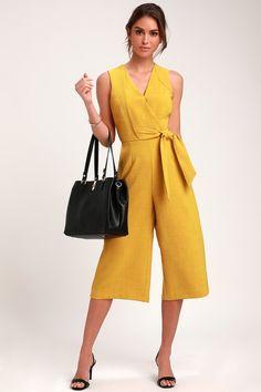 609ba4d6934 Anastasia Mustard Yellow Culotte Jumpsuit