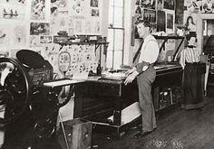 Newspaper office in Dallas circa 1900. (Polk County Historical Society