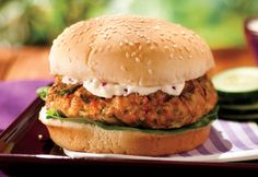 Hamburgers de saumon au #barbecue #recette