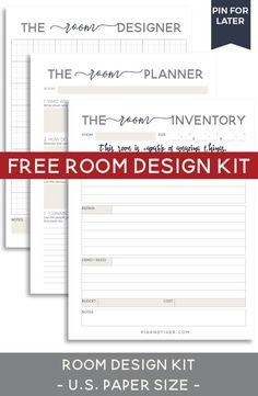 Design your room - FREE Room Design Kit - Pig + Tiger Renovation