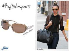Gafas de color arena. Inspiración: Miranda Kerr.