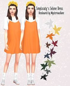 The Sims 4 CC || Simpliciaty's Selene Dress Recoloured by MysteriousDane