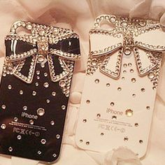 Explosion porcelain bow iPhone5 diamond mobile phone cover iphone4s pastes diamond shell cover Apple 4