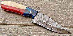 Texas Flag Handle Damascus Skinner Knife Skinning Knife, Texas Flags, Damascus, Hunting, Handle, Knifes, Blade, Exotic, Guns