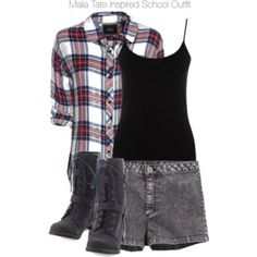 Teen Wolf - Malia Tate Inspired School Outfit with a plaid shirt