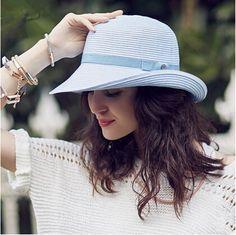 Elegant straw sun hat for women UV beach hats package design