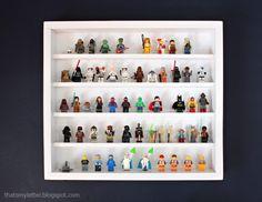 How to build a Lego minifigurine shelf with free plans.