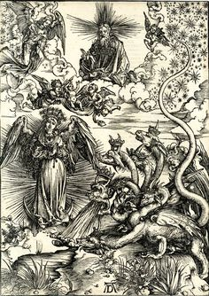 The woman of the Apocalypse and the seven-headed dragon; the woman clothed with the sun, Mary, our beloved mother