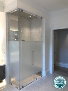 Heres a shower idea: if you looking to have a frameless shower door, but want some privacy, this is the door for you! At MY Shower Door, we can create the shower of your dreams and still give you privacy! Frosted Shower Doors, Custom Shower Doors, Frameless Shower Doors, Glass Shower Doors, Master Bathroom Shower, Simple Bathroom, Bathroom Ideas, Natural Bathroom, Bath Ideas