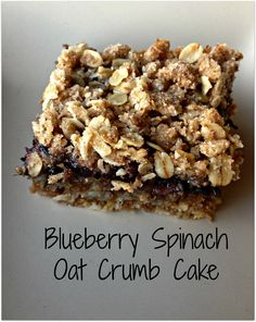 Blueberry Spinach Oat Crumb Cake