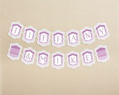 Personalized Orchid Watercolor Banner - Ombre