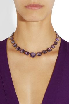 Olivia Collings | 1840s 18-karat gold amethyst rivière necklace | Still stunning over 150 years later!