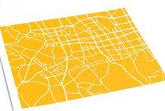 Seoul City Map Art Print / Choose your City & by jennasuemaps, $18.00