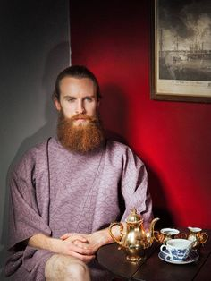 'Bearded Men in Silky Kimonos' is a Pin-Up Calendar For Lovers of Hirsute Men | Broadly