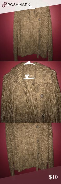 Thick cardigan Brown cardigan, really warm and thick! Size small. Brand new! Mossimo Supply Co Sweaters Cardigans