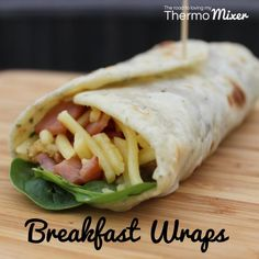 These wraps are inspired by my mother in law after a recent stay with her in QLD. These are not only delicious for breakfast but make a really quick and easy Breakfast Wraps, Paleo Breakfast, Breakfast Recipes, Homemade Wraps, Bellini Recipe, Tortilla Recipe, Tortilla Wraps, Lunches And Dinners, Eating Habits