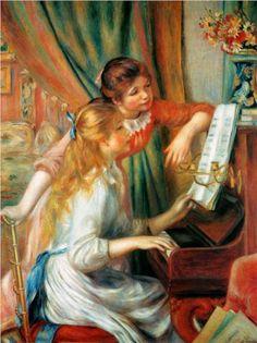 Girls at the Piano - Pierre-Auguste Renoir 다음은 몽마르뜨에 거주한 레느와르의 작품입니다. 가장 유명한 인상주의 작가 중 한명으로 이 것 보다 유명한 그림들이 더 있지만 제가 이 그림을 개인적으로 제일 좋아합니다. 밝은 색채와 부드러운 선 표현이 인상적입니다.