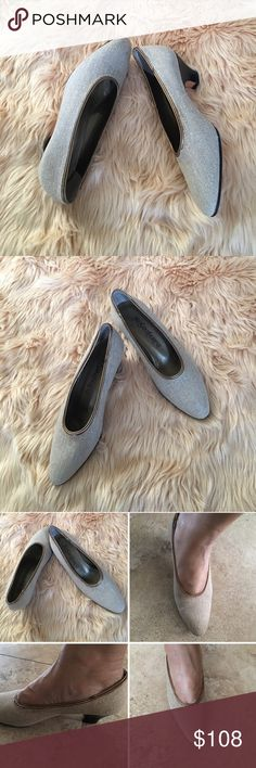 "Yves Saint Laurent YSL Tweed Pumps GORGEOUS pre-owned  tweed pump with leather trim. 2""  heel. Almond toe. Slip-on style. Smooth leather outsole. Made in Italy. Size 7M Yves Saint Laurent Shoes Heels"