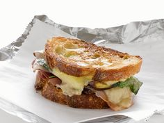 Grilled Cheese With Dates and Prosciutto : Dates give a touch of sweetness to this otherwise deliciously salty Monterey jack cheese sandwich. via Food Network