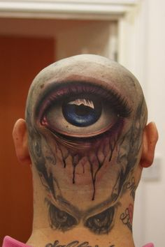 Most Crazy Tattoo - Click the picture for more - # Idea - Tattoo-Spirit - Best 3d Tattoos, Weird Tattoos, Popular Tattoos, Eye Tattoos, Horror Tattoos, Spooky Tattoos, Female Tattoos, Amazing Tattoos, Redwood Tattoo