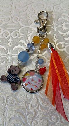 Mignon Argent activités Ours Métal Keychain Porte-clés Keyfob Porte-clés Mignon G
