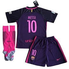 730c85807bffd  10 Messi FC Barcelona 2016-2017 Away Jersey with Shorts and Socks for Kids