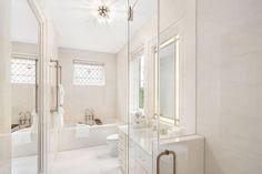 A neutral bathroom r