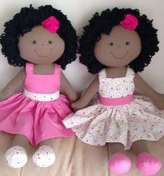 Duo of black cloth dolls. 1 of 2 Doll Eyes, Doll Face, Doll Clothes Patterns, Doll Patterns, African American Dolls, Sewing Dolls, Doll Tutorial, Soft Dolls, Felt Toys