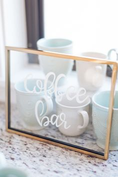 Everyone could use a cup of coffee...or two! http://www.stylemepretty.com/living/2017/01/16/love-you-a-brunch-themed-party/ Photography: Micahla Wilson - http://www.micahlawilson.net/