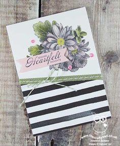 The Crafty Owl | Coloured Heartfelt Blooms Card