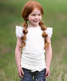 This White Everly Top - Infant, Toddler & Girls by Persnickety Clothing is perfect! #zulilyfinds