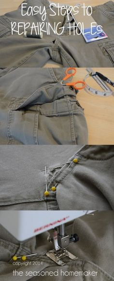Did you hear? Mending is back in. Don't toss out perfectly good jeans. Mending Holes in Jeans is easier than you think.- The Seasoned Homemaker